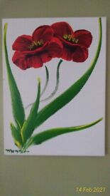 FLORAL OIL PAINTINGS SIGNED MONNIER (3) ON CANVAS