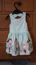 Beautiful pale green party dress 18-24 months