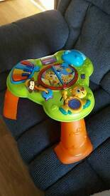 Bright stars stand and play table
