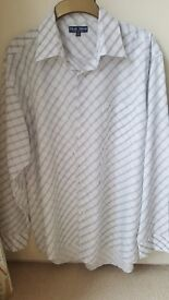 Mens shirt,Blue lake executive concept, As New,stripped design,XL,43/44.