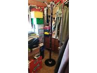 Coat Stand with marble base. Dark wood