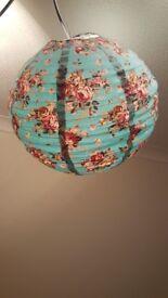 Blue floral lightshade
