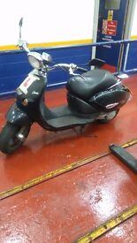 Aprilia habanna custom 50cc moped scooter for sale got a car now. SOLD AS SEEN.