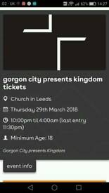 2 x Gorgon City tickets - Leeds