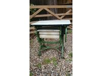 Vintage Anglian mangle with folding table and drip tray