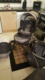 Silver cross pushchair with car seat and pram system. In immaculate condition x