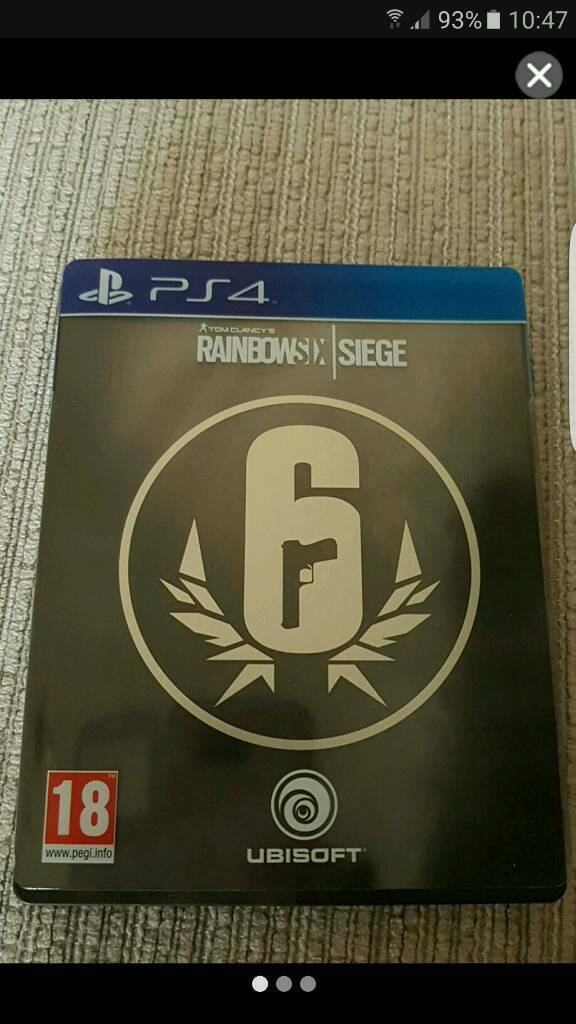 Rainbow six siege steel book edition £20