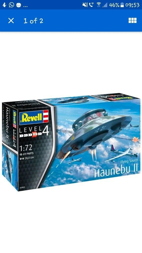 Revell Flying Saucer Haunebu Ii 03903 Rare Removed From Sale In