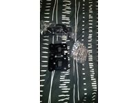 Landrover Defender Rear Door Hinge set of 3. Black. Optimill