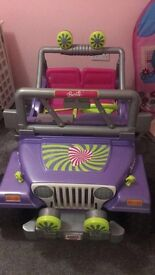Barbie fisher price hot wheels jeeps excellent condition