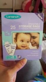 *Brand new* Lansinoh 25 breast milk storage bags
