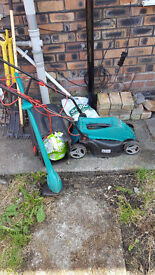 Lawn Mower and Strimmer ( BOsch )