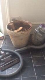 Big plant pot with soil