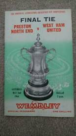 1964 FA CUP FINAL PROGRAMME