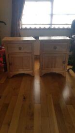 Oak bedside cabinets