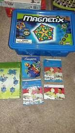 Magnetics games includes plastic box