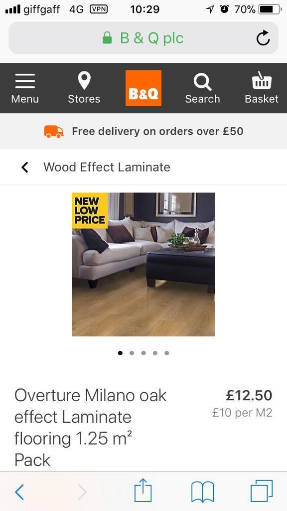 16 Packs Of Milano Oak Effect Laminate Flooring In Stalybridge