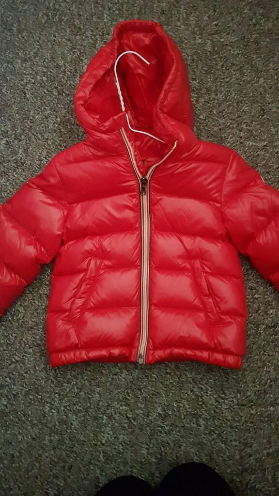 Boys red moncler coat!
