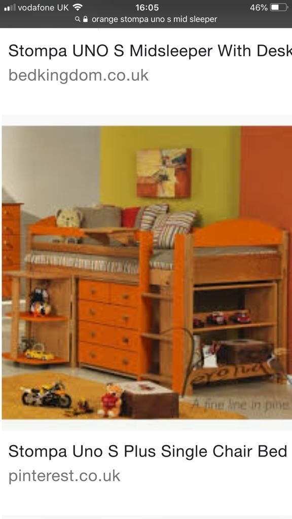 Pleasant Stompa Midsleeper Cabin Bed In Langholm Dumfries And Galloway Gumtree Theyellowbook Wood Chair Design Ideas Theyellowbookinfo