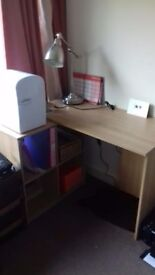 Wood Effect Corner Desk, Used & in Great Condition