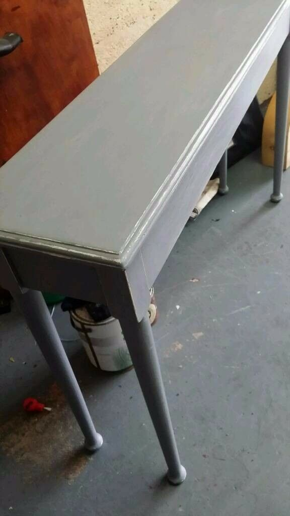 Farrow and ball grey & waxed console table bargain £24