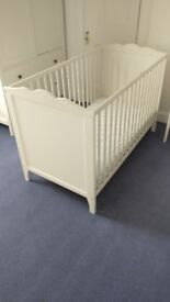 Basic White Cot ; easily assembled