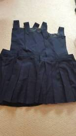 3 Girls M & S school pinafore dresses in navy. Ages 5/6 7/8 8/9
