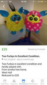 Two excellent condition Furbys