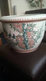 Oversize decorative plant pot