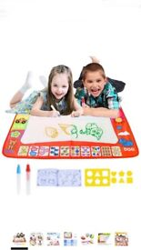 Bespick Magic Water Doodle Mat for Kids, Large Water Drawing Mat with 2 Magic Pens Drawing Molds