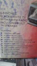 5.5 inch portable tv and radio