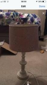 Dunelm mill lamp and light shade