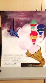 Unique Original Artwork in Acrylic - Hot Air Balloons - 'Dreams'