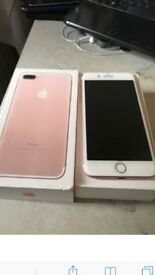I phone 7 plus in rose gold