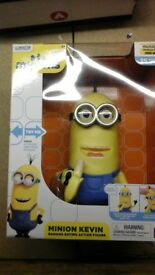 Despicable me minion Kevin with banana deluxe action figure in UNOPENED BOX