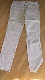 HUGO BOSS - White Business Trousers 33/32
