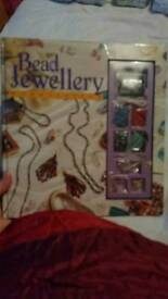 Bead jewellery book with beads
