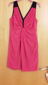 Pink and navy whistles dress