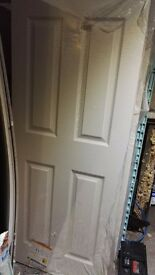 White 6 panel fire doors 1981mm x 686mm