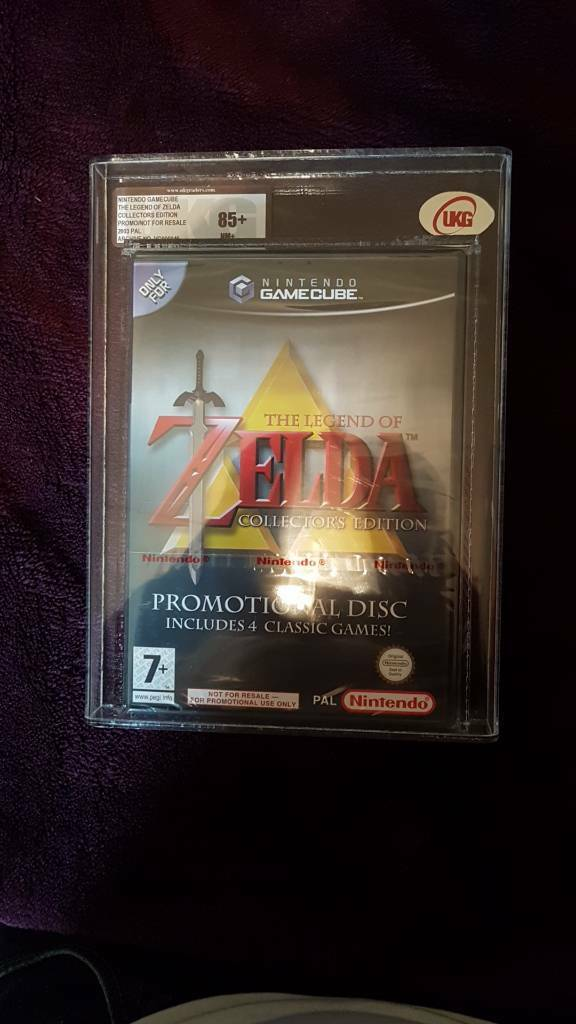 GameCube sealed and graded zelda game