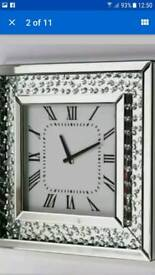 Wall Clock with Mirrored Frame