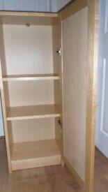 Small beech colour 1 door cupboard