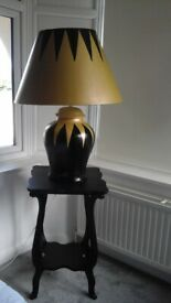 Art Deco style Large lamp and Table