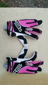 Mx gloves, motocross, enduro gear, size small