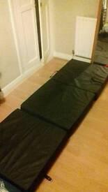 Fold out mattress cube