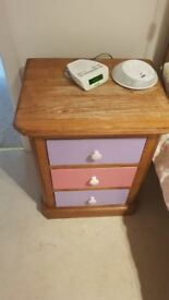 MATCHING LARGE SOLID OAK BEDSIDE DRAWS IN VERY GOOD CONDITION EXCELLENT UP-CYCLE PROJECT ,DELIVERY