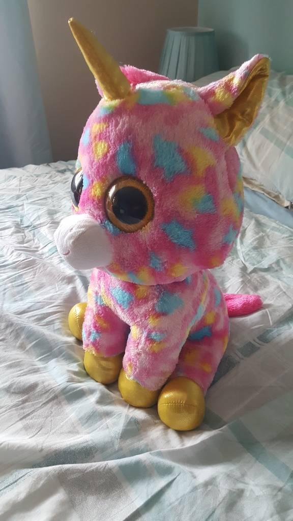 TY fantasia unicorn soft toy  0e9366f2cfe