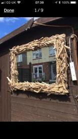 Beautiful driftwood mirror