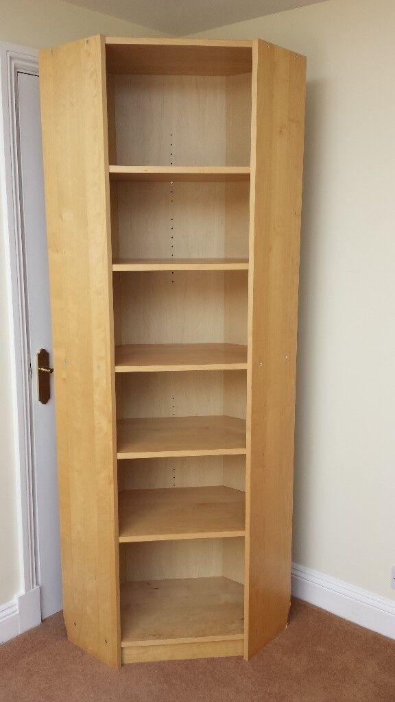 Brilliant Large Corner Shelving Unit With 6 Shelves Beech Finish In Fantastic Condition In Plymouth Devon Gumtree Interior Design Ideas Jittwwsoteloinfo