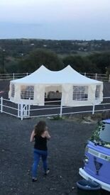 Large heavy duty decagon marquee in perfect condition.